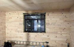 Окна деревянные, клееный брус из сосны.