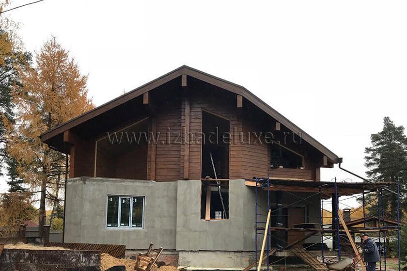 Строительство дома из клееного бруса на объекте Александровка