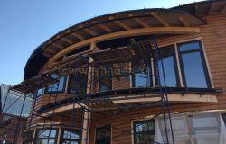 Выполнен монтаж террасной доски балкона.