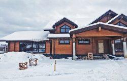 Зимние фотографии дома из клееного бруса - кедр.