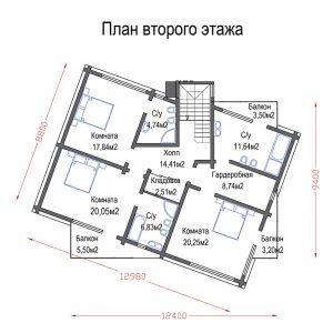 Дом из клееного бруса MATRIX