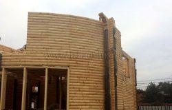 Круглый деревянный дом :)