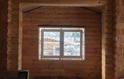 А вот это двустороннее окно. Внешний цвет - шоколад, внутри - белый.