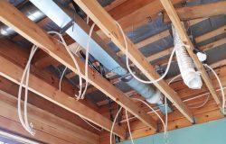 Монтаж системы воздушного отопления.