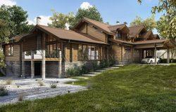 Дом из клееного бруса «Заокские просторы»