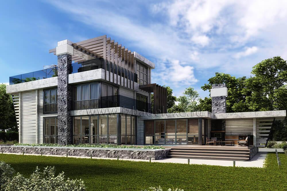 Проект загородного дома «ОзерВейн».