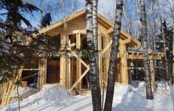 Сфотографировать дом можно только с деревьями. Маркетинг попросил фотографию с ракурса как на проекте. Не получается :)