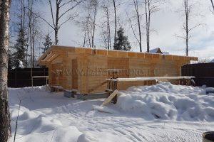 Домокомплект гаража -  клееный брус сосны, сечение 180х160мм.
