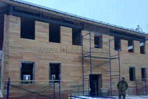 Изба Де Люкс. Строительство офисного здания из клееного бруса в Москве.