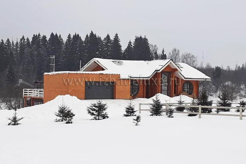 Строительство дома из клееного бруса «Клубный».
