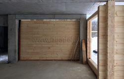 Стена монолитно-брусовая :)