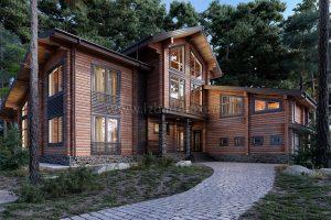 Интересный проект дома из клееного бруса