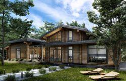 Проект дома из клееного бруса «Абинск».