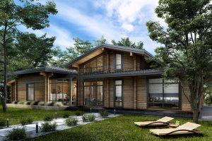 На сайт добавлен новый проект дома из клееного бруса «Абинск».