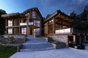 На сайт добавлен новый проект дома из клееного бруса «Армада».