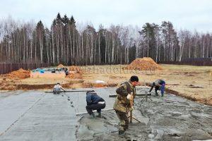 Началось строительство дома из клееного бруса Усадьба «Диана».