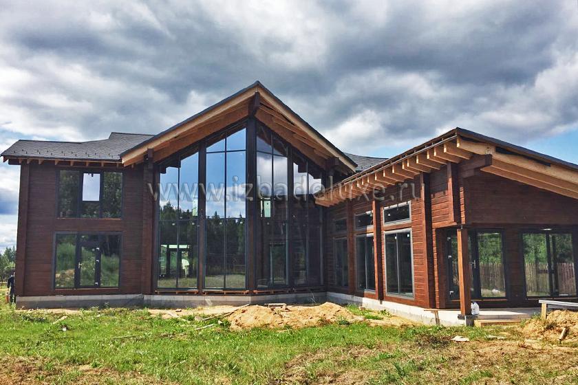 Строительство дома из клееного бруса Усадьба «Диана».