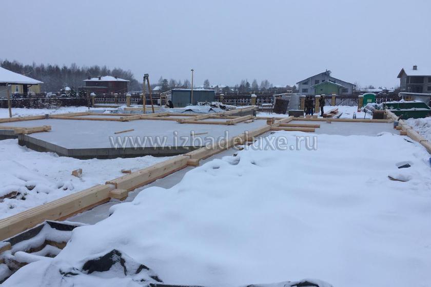 Строительство дома из клееного бруса Усадьба