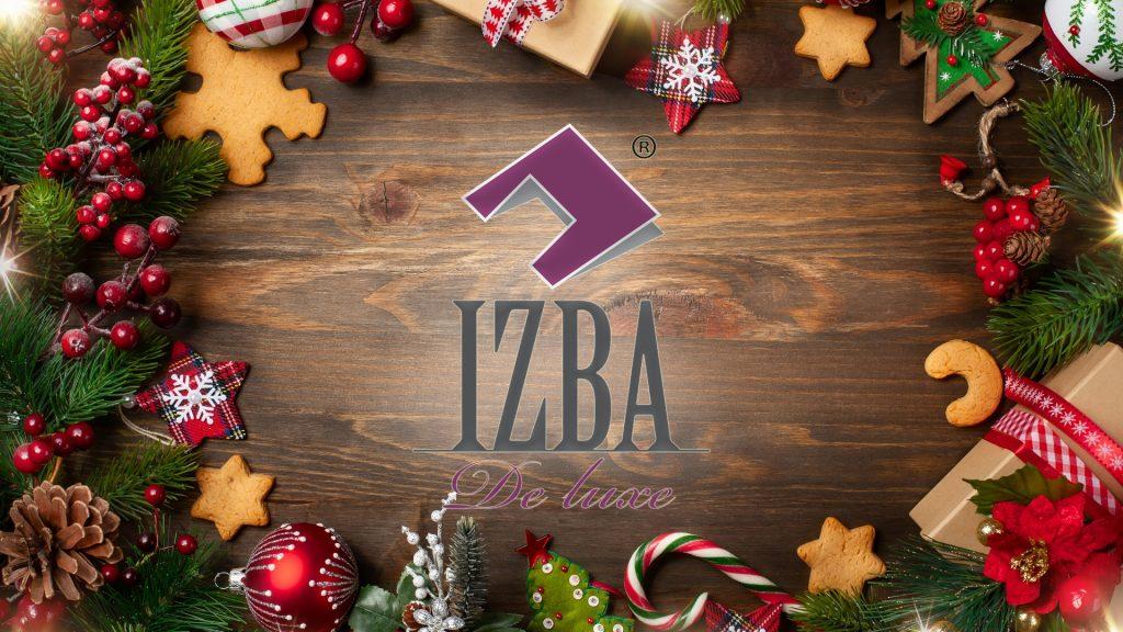 """ГК """"IZBA De Luxe"""" поздравляет Вас с наступающим Новым Годом и Рождеством!"""