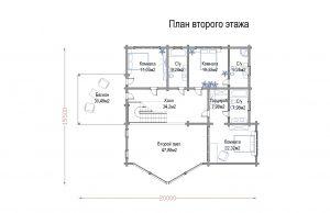 Дом из клееного бруса «Ирбис»