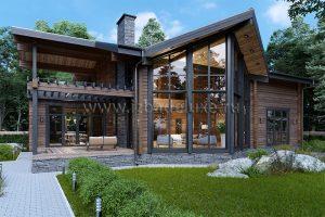 """На сайт ГК """"Изба Де Люкс"""" добавлен новый авторский проект дома из клееного бруса """"Ирбис""""."""