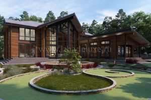 На сайт добавлен новый авторский проект дома из клееного бруса «Леди Ди».