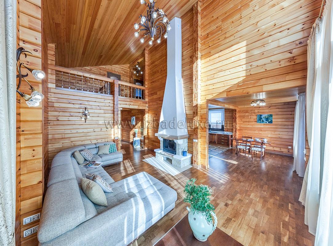 Фотографии интерьера дома из клееного бруса «Соколовское».