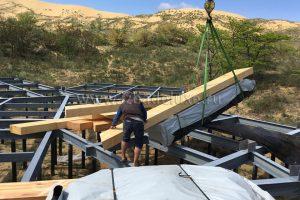 Началось строительство Визит-Центра из деревянных клееных конструкций.