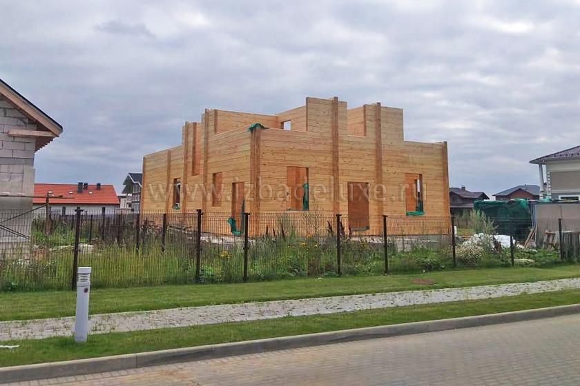 """Строительство дома по индивидуальному проекту Усадьба """"Рижская""""."""