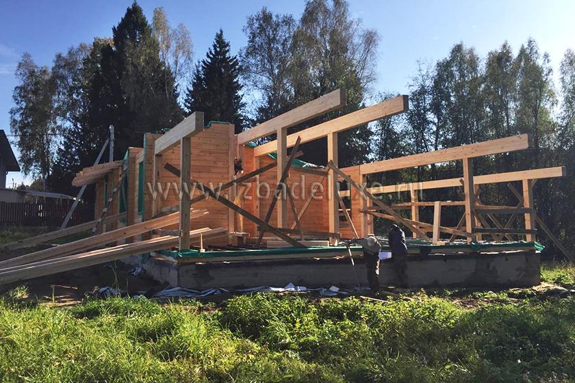 Строительство гостевого дома по индивидуальному проекту Усадьба «Денисово».