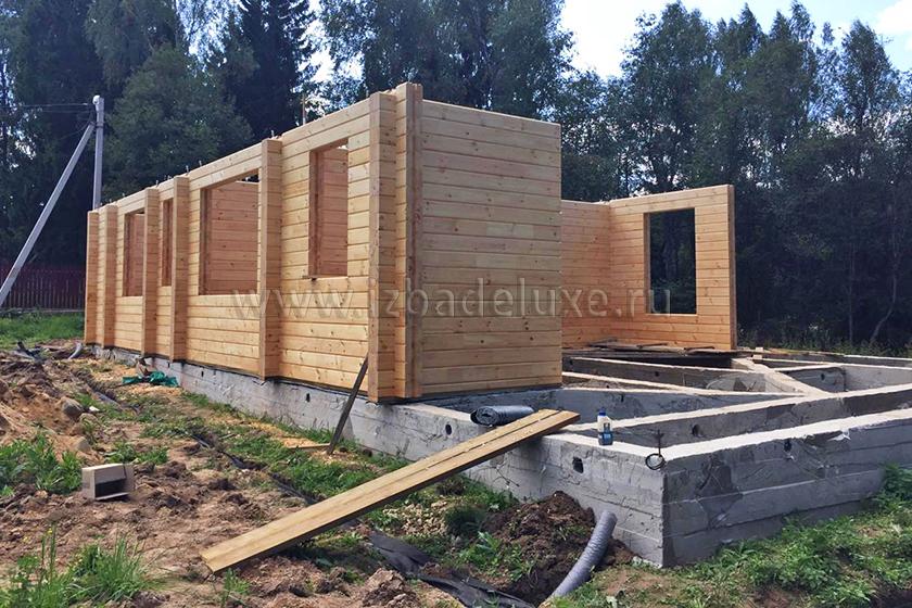 """Строительство гостевого дома по индивидуальному проекту Усадьба """"Денисово""""."""