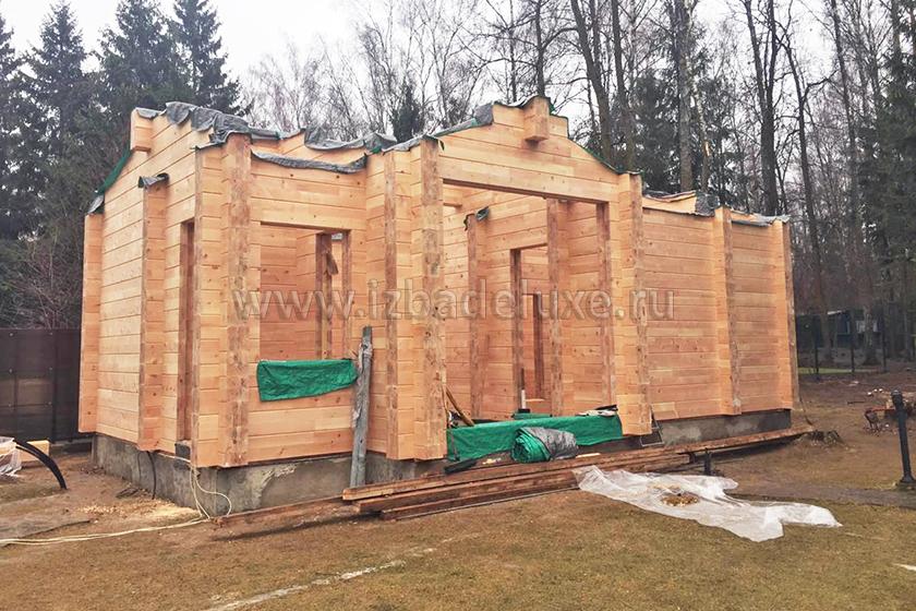 Строительство бани из кедра «Барвиха».