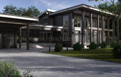 Проект дома из клееного бруса «Усадьба Велеми»