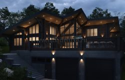 Проект дома из клееного бруса «Дом на озере Тунайча»